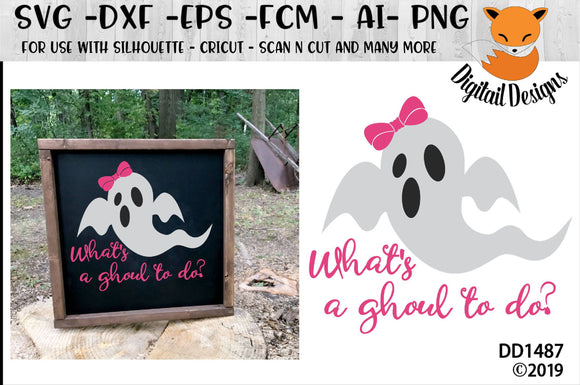 What's A Ghoul To Do? Halloween Ghost Design