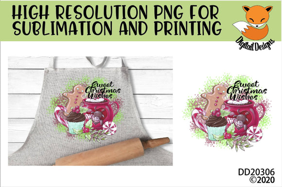 Sweet Christmas Wishes Sublimation PNG