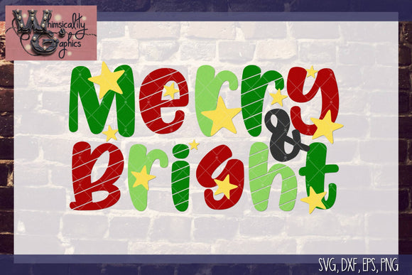 Merry and Bright Cut File WG115