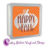 PS046F Happy Fall Glass Block