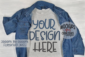 T-Shirt, Child, Teen, Adult Mock-Up