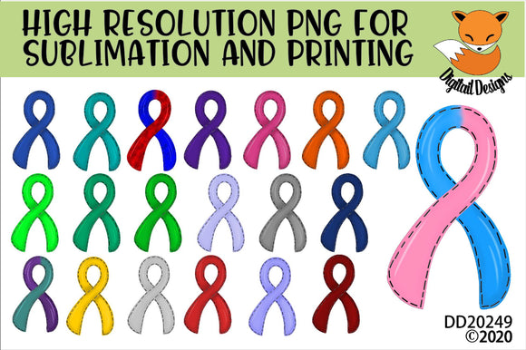 Awareness Ribbon Sublimation Element Bundle