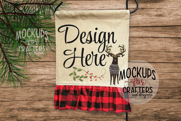 Flag Mock-Up - Buffalo Plaid Ruffle