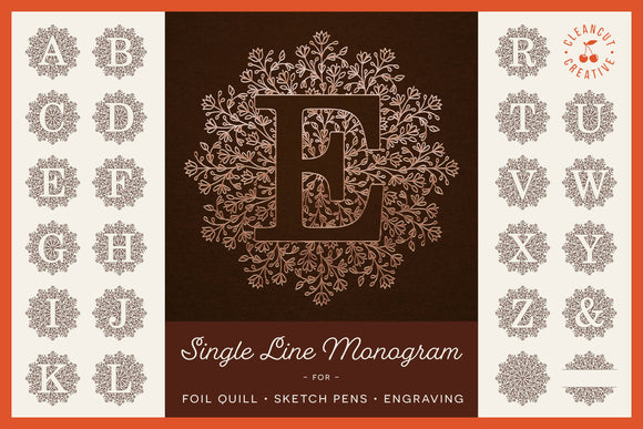 Foil Quill | Infusible Ink Pens | Single Line MANDALA MONOGRAM ALPHABET svg bundle for Cricut, Silhouette & Scan n Cut