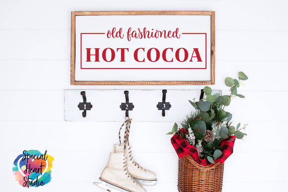 Old Fashioned Hot Cocoa - Christmas SVG Cut File