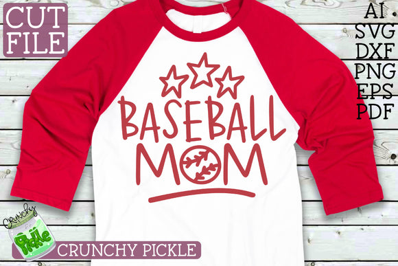 Baseball Mom Sports SVG Cut File