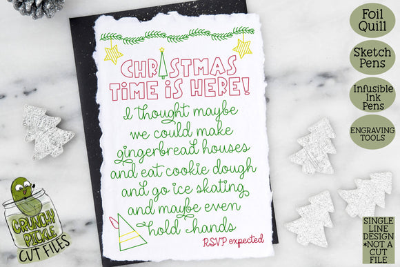 Foil Quill Christmas Card - Elf Invitation