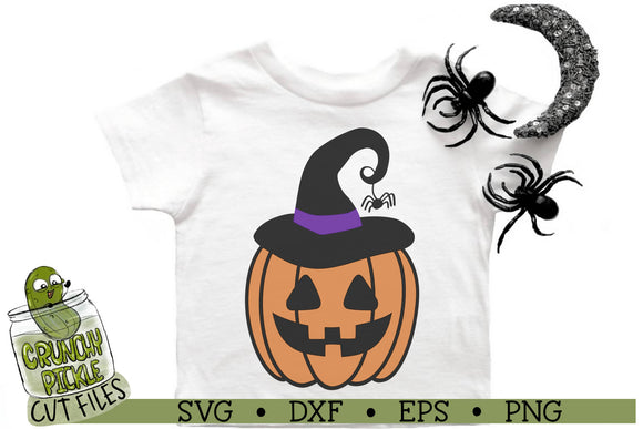 Pumpkin Witch Halloween SVG Cut File
