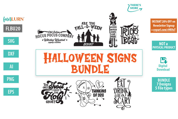 Halloween Signs Bundle svg cut file