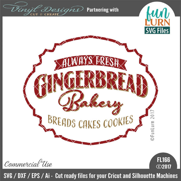 Gingerbread Bakery Cut File
