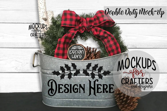 Double Duty Mock-Up - Tub / Planter & Wood Ornament