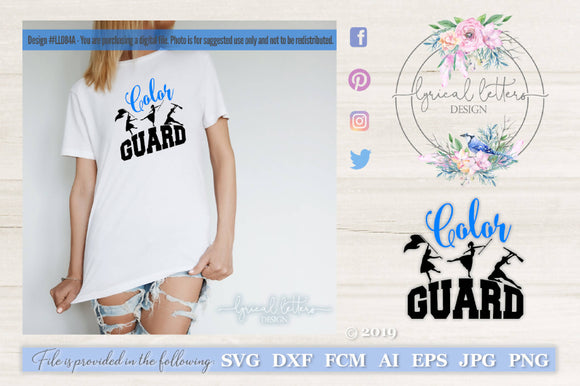 Color Guard Marching Band SVG