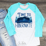 Time to Hibernate watercolor printable sublimation design - Digital download - PNG - Printable graphic design