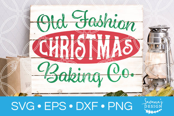 Old Fashion Christmas Baking Co SVG