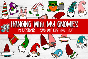Hanging With My Gnomies Design Bundle