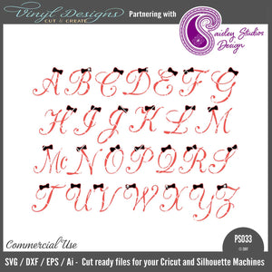 PS033 Script Bow Alphabet
