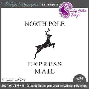 PS036D North Pole Express Mail Santa Sack