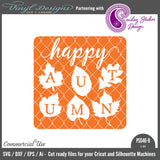 PS046B Happy Autumn Glass Block
