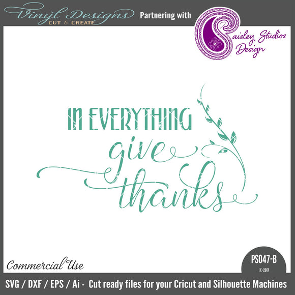 PS047B In Everything Give Thanks