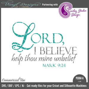 PS084A Lord I Believe