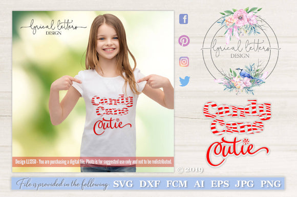 Candy Cane Cutie SVG Cut File