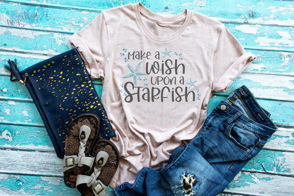 Make a wish upon a starfish SVG Cut File