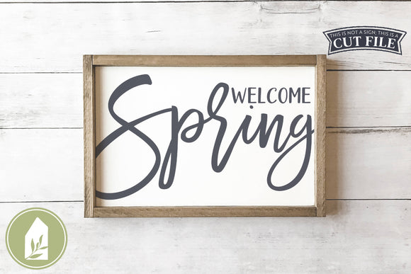 Welcome Spring SVG, Farmhouse Wood Sign SVG