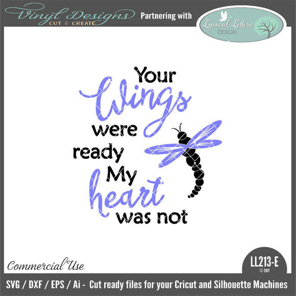 Dragonfly Your Wings Were Ready My Heart Was Not Floating Ornament Design