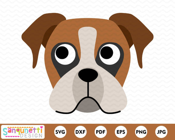 Boxer Dog Character SVG Cutting file