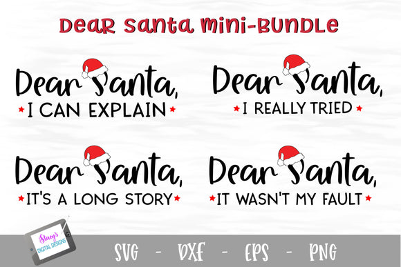 Dear Santa Mini Bundle - 4 Funny Christmas SVG Designs