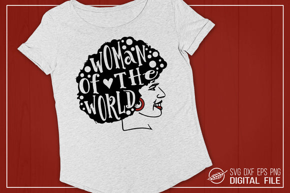 Woman of the World SVG Cut File