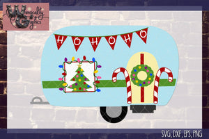 Christmas Camper Cut File WG130