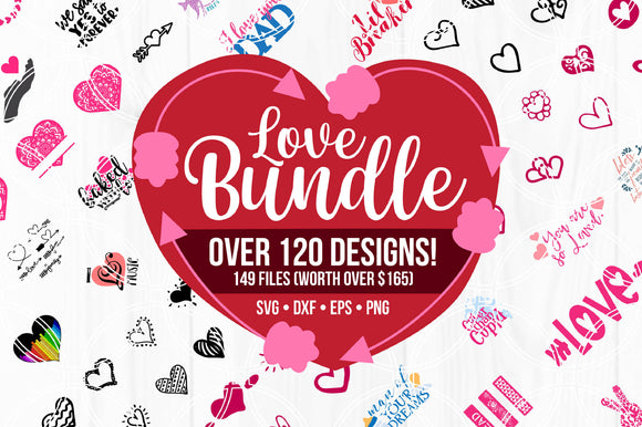 Valentines Day Cut File Bundle