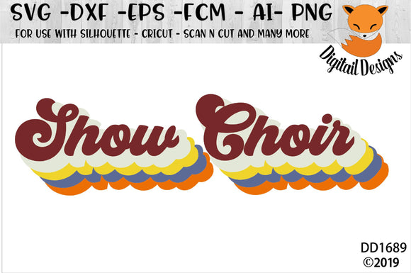 Retro Show Choir SVG