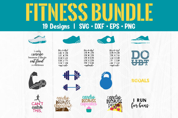 Fitness Cut File Bundle