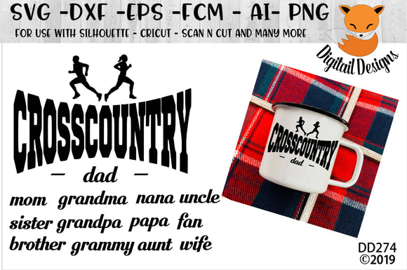 Cross Country Runner Family SVg