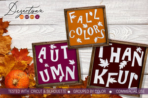 Fall Colors Autumn Thankful SVG | DXF Cut File