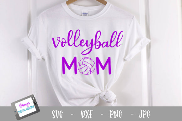 Volleyball SVG - Volleyball Mom SVG - Handlettered
