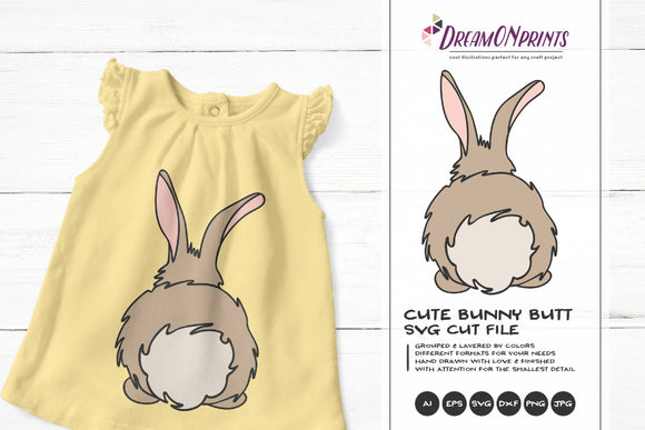 Bunny Butt | Easter Bunny SVG