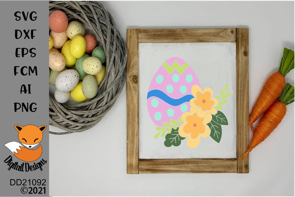 Floral Easter Egg SVG