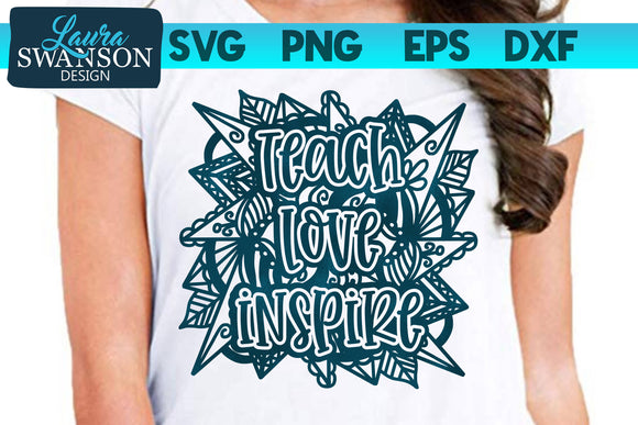 Teach Love Inspire Mandala