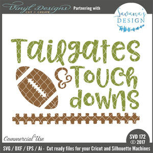 Tailgates and Touchdowns Cut File