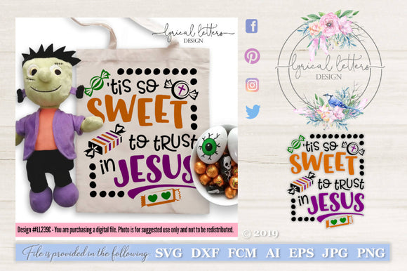 'Tis So Sweet To Trust In Jesus Halloween Alternative SVG