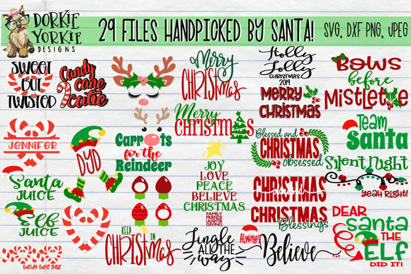 Mega Christmas Bundle SVG Cut File