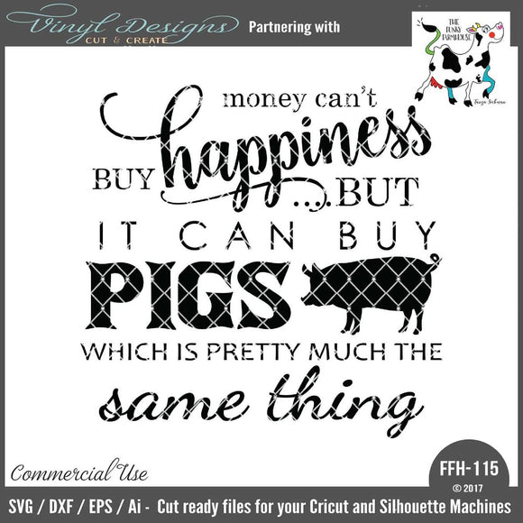 Money Can't Buy Happiness - Pigs