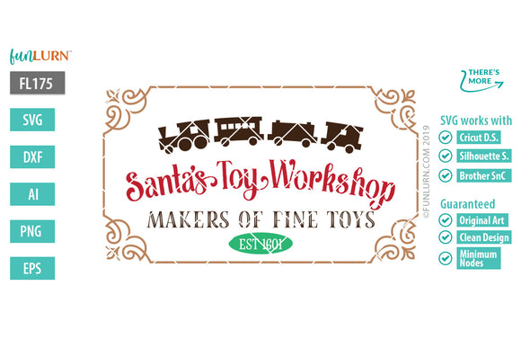 Santa's Toy Workshop Cut File