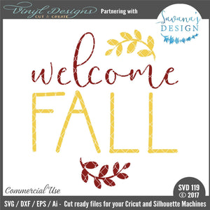 Welcome Fall Cut File