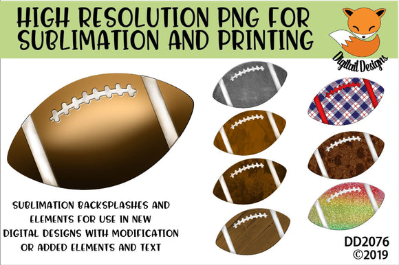 Patterned Football Sublimation Element Bundle