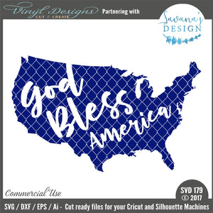 God Bless America Cut File