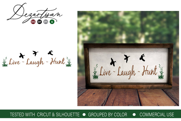 Live Laugh Hunt SVG | DXF Cut File